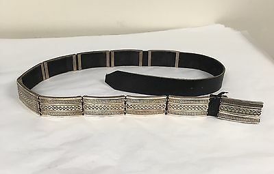 Navajo Indian Jewelry Sterling Silver Belt Patrick Yellowhorse