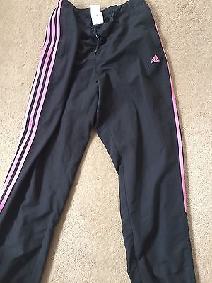 Ladies Adidas Black Tracksuits Bottom Trousers Size 12