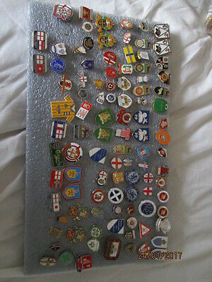 100 VARIOUS FOOTBALL BADGES LOT 2, pics updated