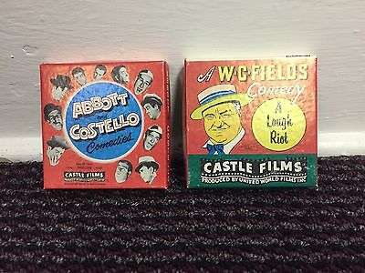 Vintage Film Super 8 Abbot And Costello Castle Films Great Chase + Midget Car