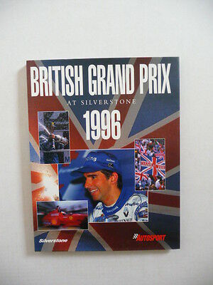 British Grand Prix  at Silverstone, 1996.  Fine book.    Motor Sport.