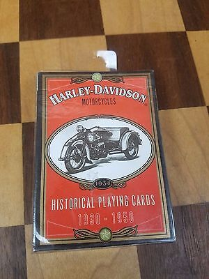 """Harley -Davidson Historical Playing Cards 1930-1950 """"factory Sealed Deck"""""""