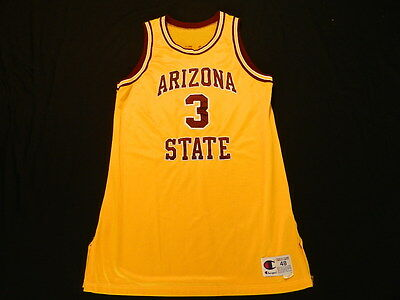 Lohnnie Tape 1998-99 Arizona State game used jersey Champion size 48+3