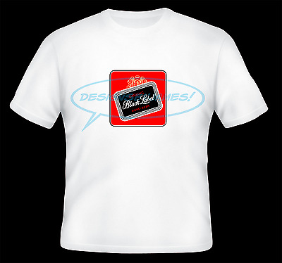 Vintage Carling Black Label Beer Logo Iron On Transfer For White T-Shirts