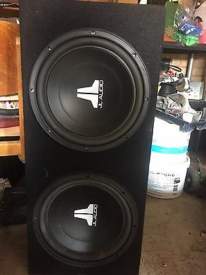 Twin JL Audio Subwoofers in a Box
