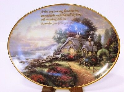 "Thomas Kinkade ""New Day Dawning"" Collectible Plate"
