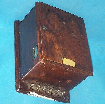 Antique Vintage WOOD TELEPHONE RINGER BOX Parts or Repair