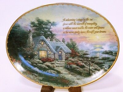 "Thomas Kinkade ""Cottage by the Sea"" Collectible Plate"