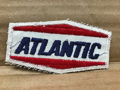 "Vintage Original 1950/60's Embroidered Atlantic Gasoline Jacket Patch 3.75"" X 2"""