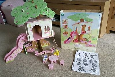 ELC rosebud tree house wooden toy doll house early learning centre