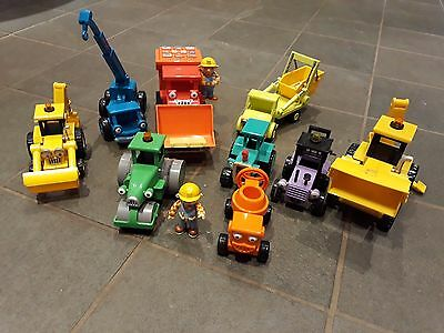 Bob The Builder - A Bundle Of Toy Vehicles And Figure