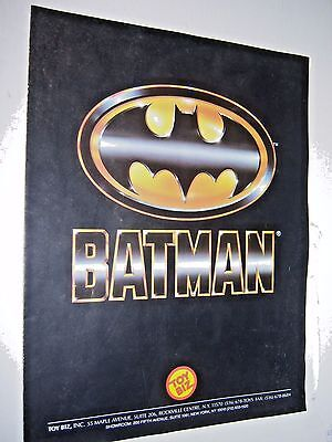 Batman The Movie toy 1 sheet catalog (1989) Toy Biz DC Super Heroes