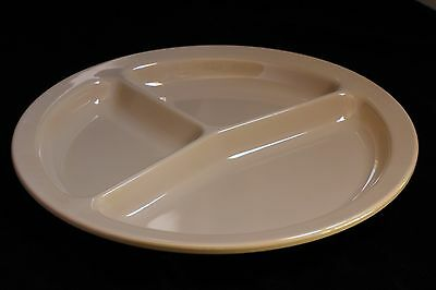 """NEW 10""""   3 Section Divided Round Restaurant Plates 48 PC (Tan) US 2611"""