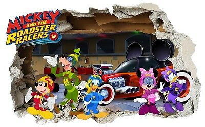 Giant Mickey and the Roadster Racers Wall Sticker, bedroom, child, Disney