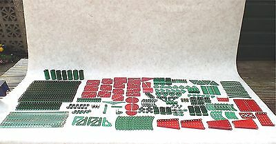 Meccano Green And Red Useful Parts Job Lot Great For Resale