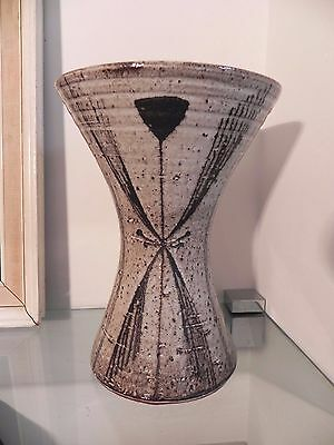 Vintage, Scarce Stoneware Waisted Vase By David Leach W/ Personal Seal Mark