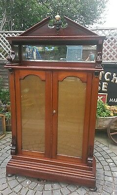 antique mahogany regency bookcase .UK and overseas  shipping available.