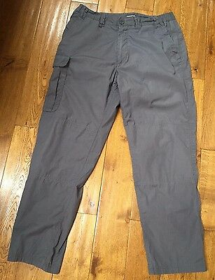 Mens Craghoppers Grey Cargo Trousers Size 34 Reg