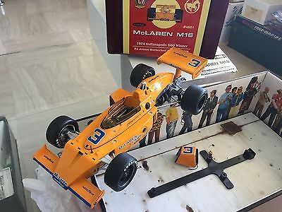1/18 Carousel 1 McLaren M16 1974 Indianapolis 500 Johnny Rutherford N. 3