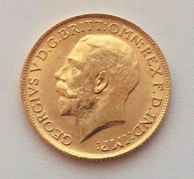 1912 Great Britain Gold Sovereign George V St. George Coin