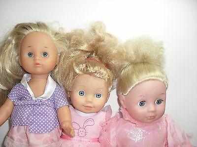 Bundle of 3 blonde haired baby dolls,cititoy,zapf creations,emmi