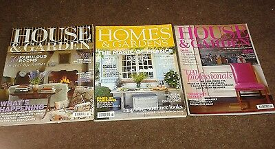 3 House and Garden Magazines