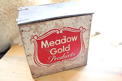 Meadow Gold Products Milk Crate - Rustic Vintage