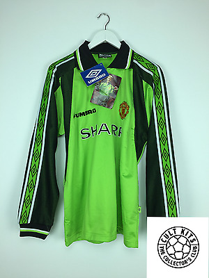 Retro MANCHESTER UNITED 99/00 *BNWT* GK Football Shirt (XL) Soccer Jersey Umbro
