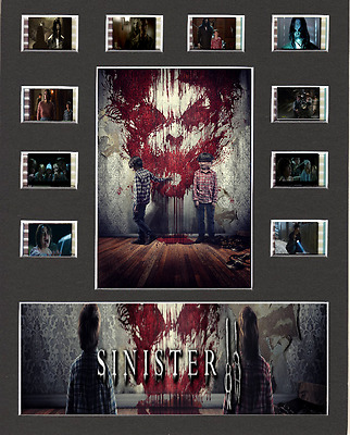 Sinister 2 replica Film Cell Presentation 10x8 Mounted 10 cells