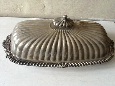 Silver Plated Butter Dish ( Damaged )