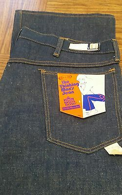 VINTAGE...1970s SEARS DEADSTOCK JEANS NEW 100% COTTON RIGID DENIM *THE THINKING