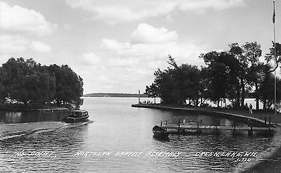 Real Photo Antique Postcard The Point Scene Green Lake WI Wisconsin 1948 RPPC