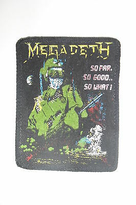 Megadeth so far, so good.. so what ! group patch Sew On music