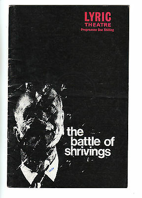 The Battle of Shrivings (1970) - Theatre Programme