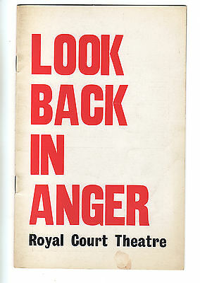 Look Back In Anger (1968) - Theatre Programme