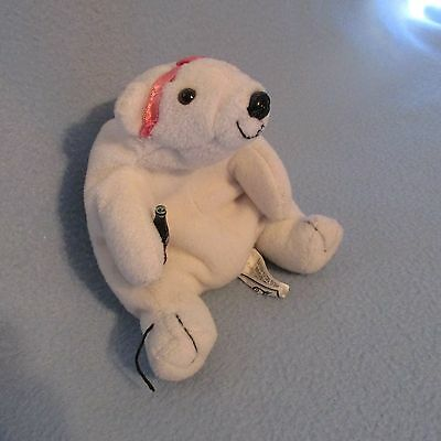 "Coca Cola 5"" Polar Bear Plush Design 1997"