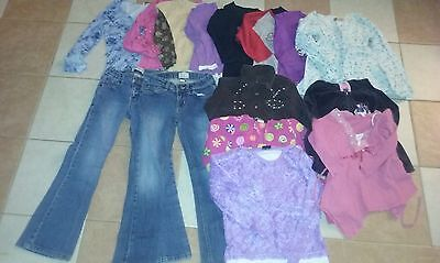 GIRL 15pc LOT SZ 6-7, FEW 8~WINTER~SPRING~FALL CLOTHES JEANS~TOPS~SHIRTS~JACKET