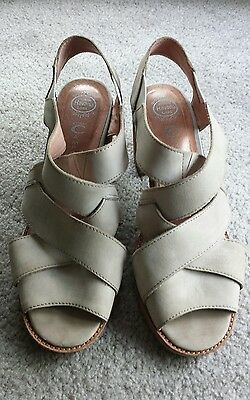 Jeffrey Campbell Womens Shoes Size 9 Beige Strappy Sandals Leather Heels