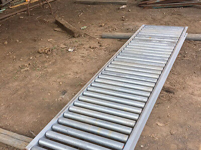 "25"" Gravity Roller Conveyor, 8'6"" sections"