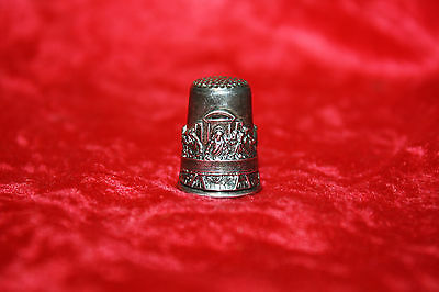 Sterling Silver Thimble Collectible Last Supper Made In Israel