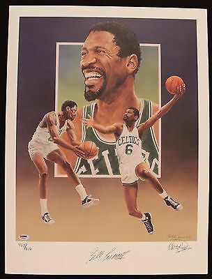 Bill Russell Signed Limited Edition Boston Celtics 18x24 Lithograph PSA/DNA COA