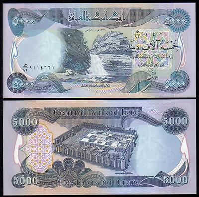 100,000 New Iraqi Dinar Crisp Uncirculated 20 x 5,000 Genuine Iraq Banknotes!