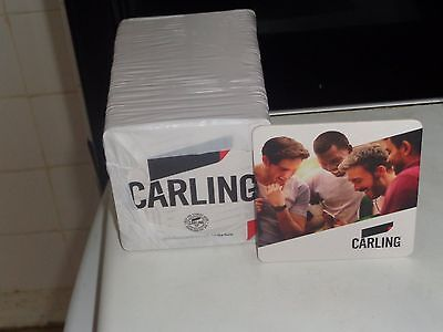 carling lager full pack beer mats