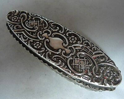 Antique Silver & Glass Trinket Box Crisford & Norris Birmingham 1906 A604417