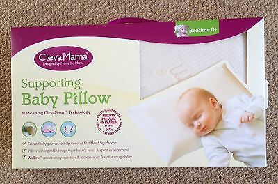 Clevamama Clevafoam Baby Pillow from 0-12 Months Brand New