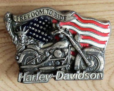 Harley Davidson freedom to ride Belt Buckle