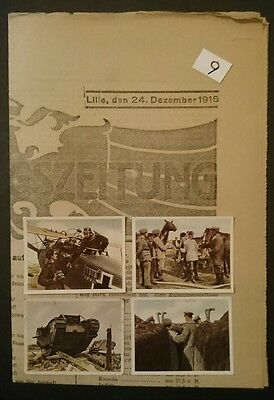 German Ww1 ,front Newspaper ,+ 4 Pic Cards , 1914/18 , Somme ,kaiser,