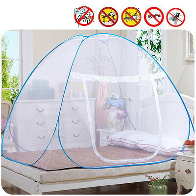 Mosquito Foldable Net Fly Insect Pop Up Protection Bed Outdoor Tent White New