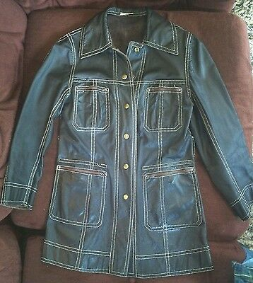 Vintage Womens 1970s Leather Suede Reversible Jacket Petite Made in Colombia