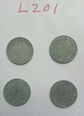 German Ww2 Coins, Original 1936// 1945